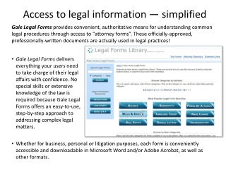 Access to legal information — simplified
