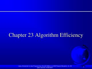chapter 23 algorithm efficiency