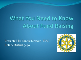 What You Need to Know About Fund Raising