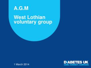 A.G.M West Lothian voluntary group