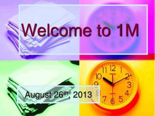 Welcome to  1M