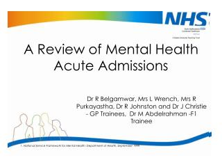 A Review of Mental Health Acute Admissions