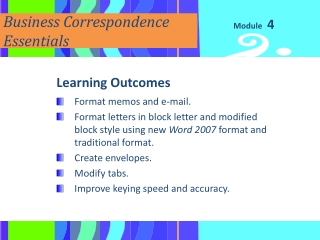 Business Correspondence Essentials
