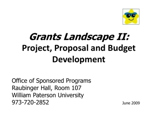 Grants Landscape II: Project, Proposal and Budget Development
