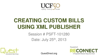 CREATING CUSTOM BILLS USING XML PUBLISHER