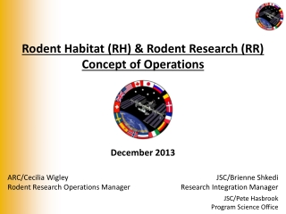 Rodent Habitat (RH) & Rodent Research (RR) Concept of Operations
