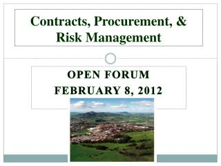 Contracts, Procurement, & Risk Management