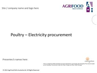 P oultry – Electricity procurement