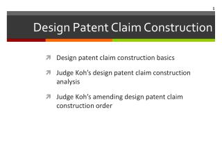 Design  Patent Claim Construction