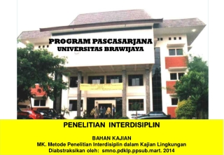PROGRAM PASCASARJANA UNIVERSITAS BRAWIJAYA