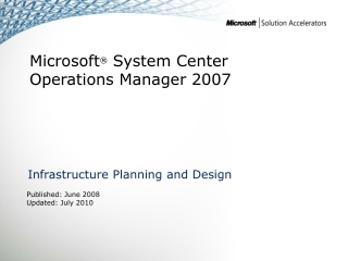 Infrastructure Planning and Design