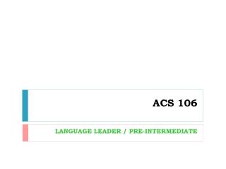 ACS 106