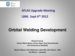 ATLAS Upgrade Meeting LBNL  Sept 6 th  2012