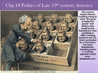 Chp  18 Politics of Late 19 th  century America