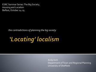 'Locating'  localism