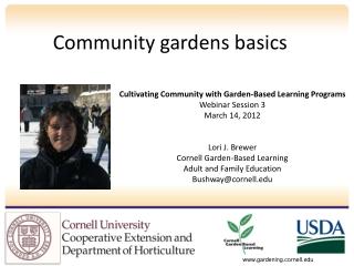 Community gardens basics