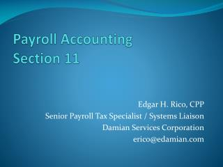 Payroll Accounting Section 11