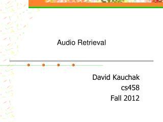 Audio Retrieval