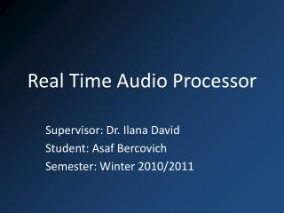 Real Time Audio Processor