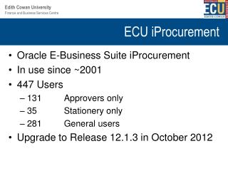 ECU iProcurement