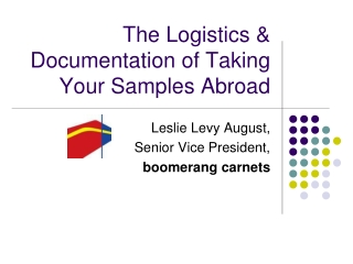 The Logistics & Documentation of Taking Your Samples Abroad