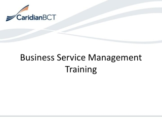 Business Service Management Training