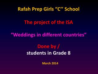 "Rafah  Prep Girls ""C'' School"