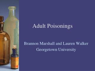 Adult Poisonings