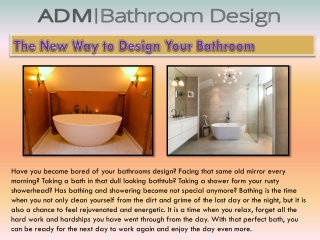 The New Way to Design Your Bathroom