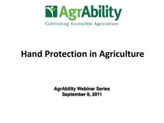Hand Protection in Agriculture