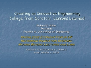 Creating an Innovative Engineering College from Scratch:  Lessons Learned