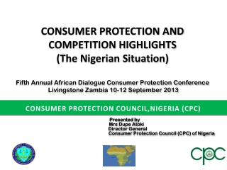 CONSUMER PROTECTION COUNCIL,NIGERIA (CPC)