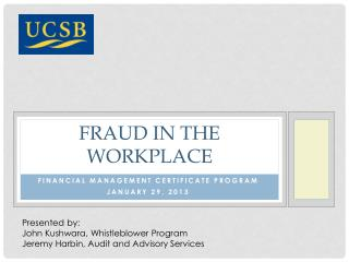 Fraud in the workplace