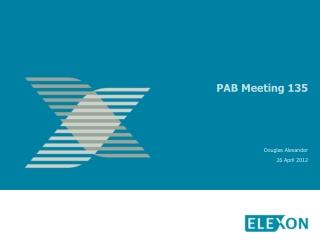 PAB Meeting 135