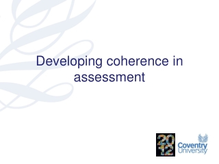 Developing coherence in assessment