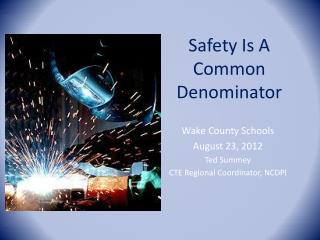 Safety Is A Common Denominator