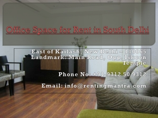 Office on Rent in South Delhi
