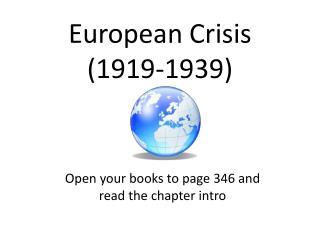 European Crisis (1919-1939)