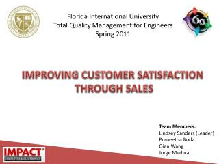 Florida International University Total Quality Management for Engineers Spring 2011