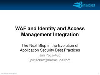 WAF and Identity and Access Management Integration
