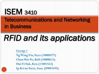 ISEM  3410  Telecommunications  and Networking in Business
