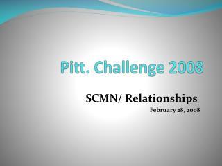 Pitt. Challenge 2008