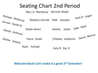Seating  Chart  2nd Period