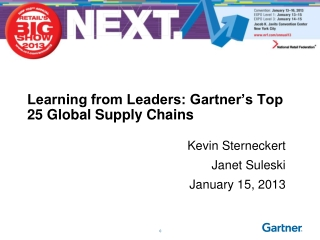 Learning from Leaders: Gartner�s Top 25 Global Supply Chains