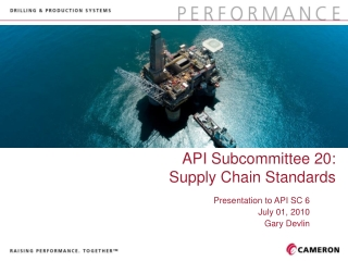 API Subcommittee 20:  Supply Chain Standards