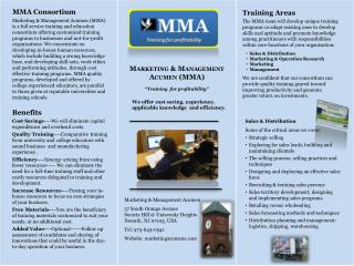 Marketing & Management Acumen 57 South Orange Avenue Society Hill @ University Heights Newark, NJ 07103, USA Tel: 973-6