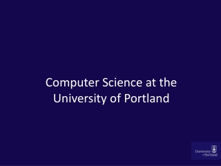 Computer Science at the University of Portland