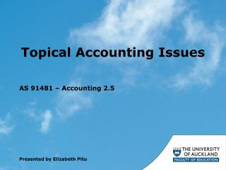 Topical Accounting Issues