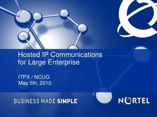 ITPX / NCUG May 5th, 2010