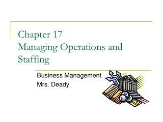 Chapter 17  Managing Operations and Staffing